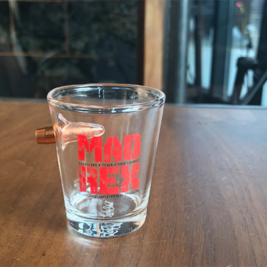 ENGRAVED- BULLET  SHOT  GLASS