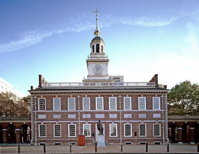 visiting the monumental Independence Hall is definitely worth it