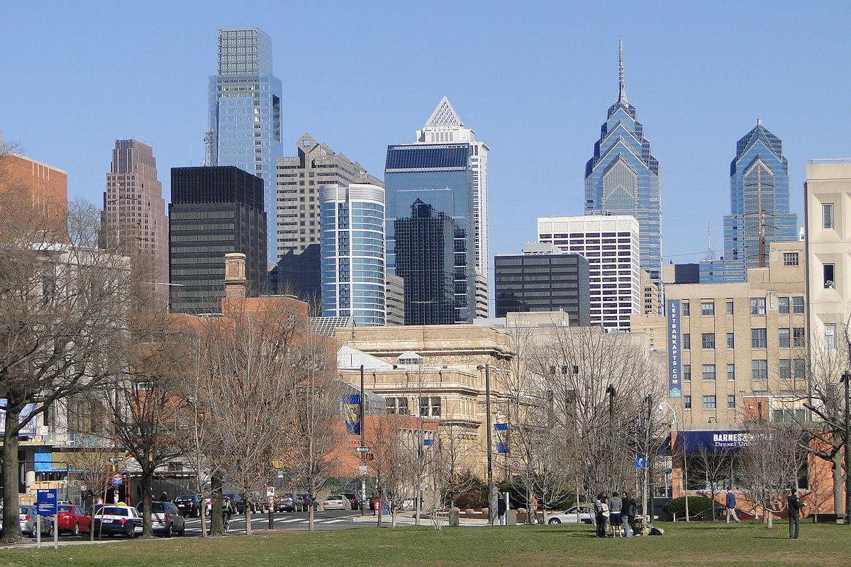 A view of Philadelphia's skyline
