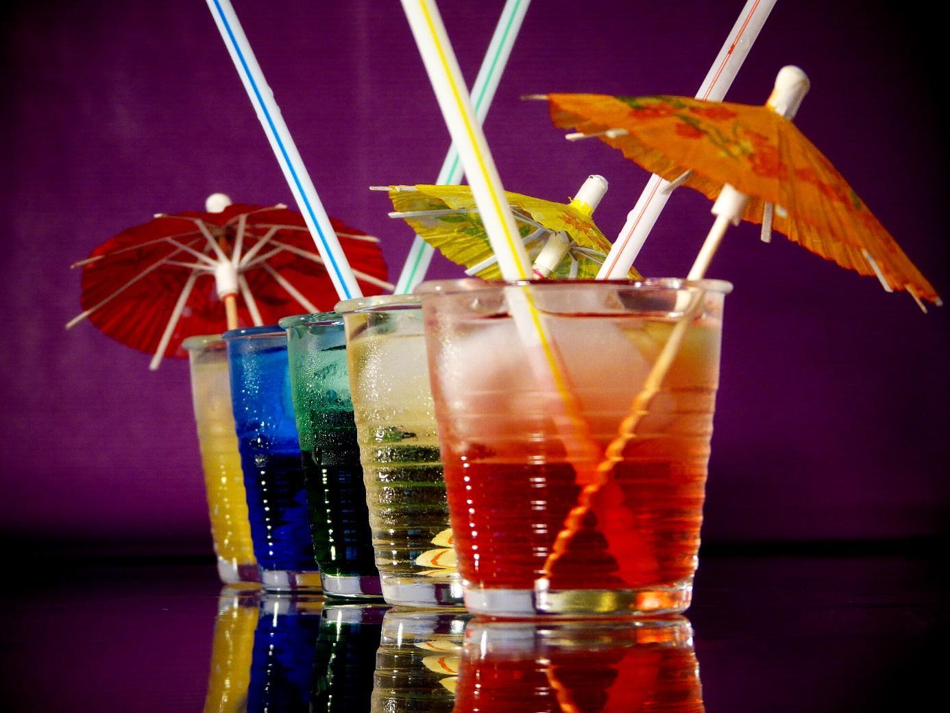 Rainbow cocktails