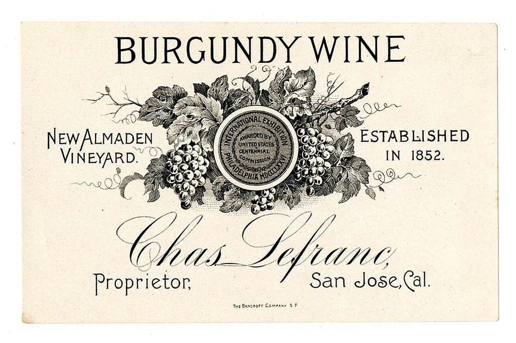 picture of a burgundy wine label